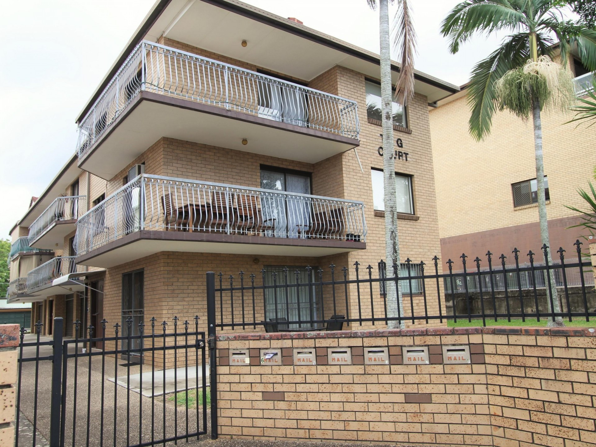 Roomy older style with balcony and lock-up garage